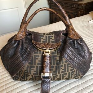 Authentic Fendi Spy Zucca Handbag